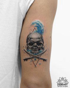 Skull tattoo by Deborah Genchi
