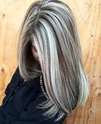 Bildresultat för golden blonde highlights on gray hair