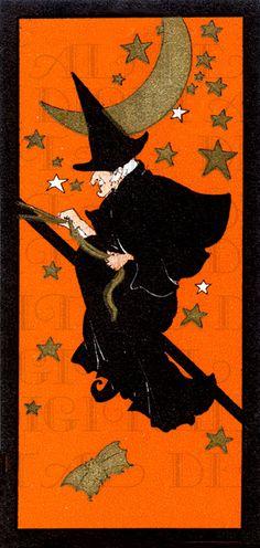 RARE Flying Among Stars.  Wonderful Witch by DandDDigitalDelights, $1.99
