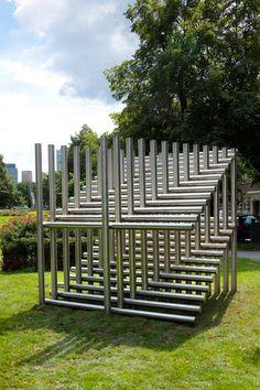 Cube construction by André Volten (ARTZUID 2009, Amsterdam)