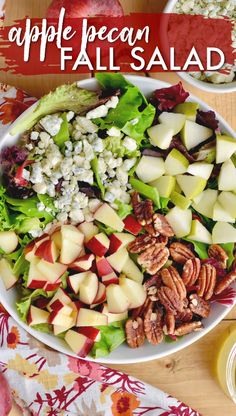 Apple Pecan Fall Salad – Seen On Wine & Glue – You are in the right place about salad recipes videos Here we offer you the most beautiful pictures about the best salad recipes you are looking for. When you examine the Apple Pecan Fall Salad – Seen On … Fresh Salad Recipes, Salad Recipes For Dinner, Chicken Salad Recipes, Healthy Salad Recipes, Vegetarian Recipes, Cooking Recipes, Winter Salad Recipes, Christmas Salad Recipes, Salad Recipes Easy Lettuce