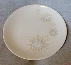 "Ben Seibel Iroquois Impromptu China Dinner Plate 10"" Stellar Atomic Mid Century | eBay"