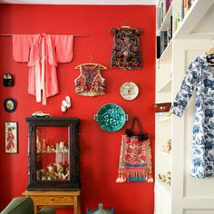 great idea for my vintage kimono from Tokyo and antique pieces....