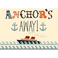 Anchors Away Ship by Amy Blay Canvas Art | Wayfair