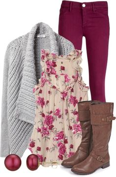 Cute outfit for winter different boots!!!