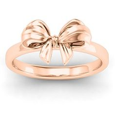 Structured #Bow #Ring #personalize #girls #jewelry