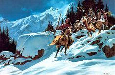 Frank McCarthy : War Party Of The Snow.