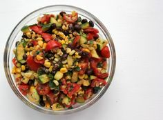 Fresh Summer Salad with Zucchini, Corn and Black Bean