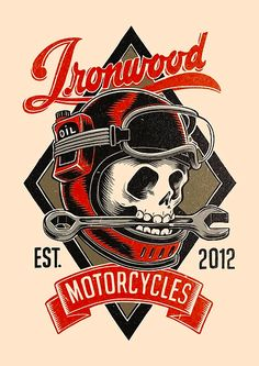 Custom motorcycles, art, surf, skate and good vibes since Logos Vintage, Vw Vintage, Vintage Labels, Vintage Signs, Motorcycle Logo, Motorcycle Posters, Rat Fink, Badge Design, Logo Design