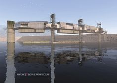 "Holcim Awards ""Next Generation"" 1st prize 2014. Bio-Mimicry: Water research center, Fika Patso Dam, South Africa. Author: Jurie Swart, Bloemfontein, South Africa. Click above to see larger image."