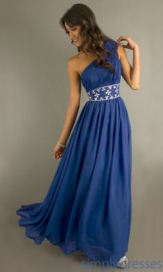 Long One Shoulder Formal Dress, Black Prom Gown - Simply Dresses $163