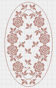 Kira scheme crochet: Scheme crochet no. Cross Stitch Rose, Cross Stitch Borders, Cross Stitch Flowers, Cross Stitch Embroidery, Cross Stitch Patterns, Filet Crochet Charts, Knitting Charts, Lace Patterns, Easy Crochet Patterns