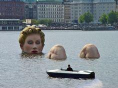 Die Badende (El bañista), Hamburgo, Alemania