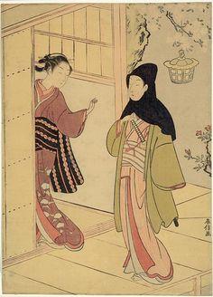 An Evening Visit by Suzuki Harunobu