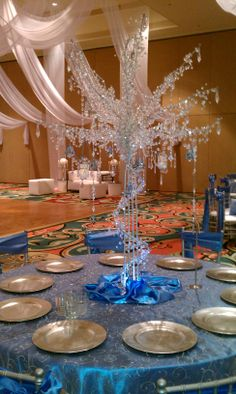 Crystal Tree Luminated Centerpiece by Longwood Events and Weddings