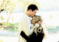 amanda syfried  and channing tattum, dear john. <3 one of  my all time favorite  love movies