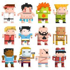 Street Fighter chibi 8bit
