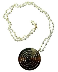 Padre nuestro long beaded necklace. | Decenarioscool - Jewelry on ArtFire