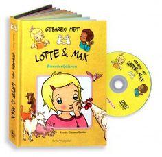 Boekje met bewegende flapjes:  Lotte en Max Boerderijdieren