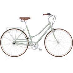 Naisten työmatkapyörä Electra Loft 7i - Green tea polkupyörä 7-vaihteinen