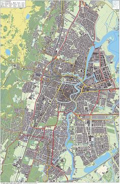 Map of Haarlem, the Netherlands, of around 1550. | Kitchen update ...