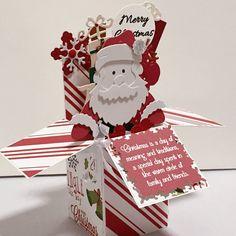 Merry Christmas Card In A Box  Handmade Christmas by CARDSBYMOM