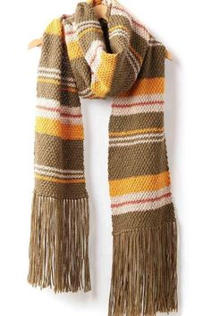 Moss Stripes Simple Knit Scarfz The best kind of super scarf is the basic kind. This Moss Stripes Simple Knit Scarf is easy enough for a beginner, but the textural moss stitch and varying widths of the stripes gives this easy knit scarf serious intrigue. Knitting Designs, Knitting Patterns Free, Knit Patterns, Free Knitting, Loom Knitting, Free Pattern, Striped Scarves, Striped Knit, Patons Classic Wool