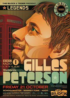 Gilles Peterson.  Legendary DJ