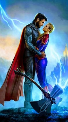 Captain Marvel & Thor, Avengers: End of Game - .-Captain Marvel & Thor, Avengers: Spielende – Captain Marvel & Thor, Avengers: End of Game – - Captain Marvel, Marvel Avengers, Marvel Comics, Films Marvel, Marvel Fan, Marvel Memes, Marvel Characters, Marvel Cinematic, Avengers Quiz