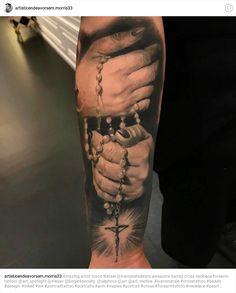 New Tattoos, Hand Tattoos, Tattoos For Guys, Sleeve Tattoos, Religion Tattoos, Heaven Tattoos, Cross Tattoo For Men, Christian Tattoos, Arm Tattoo