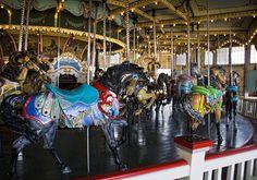 Paragon Carousel at Nantasket Beach, Hull MA (by Liz West)