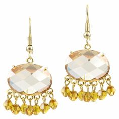Outlet Item: Misty's Fancy CZ Earrings - Champagne