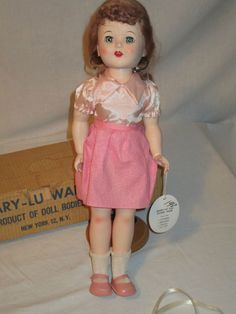 Vintage Mary Lu Walker Doll Sleepy Eyes Teeth Jointed Near Mint Box 1952 - 1953