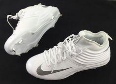 super popular c023e 40908 Nike Lunar Trout 2 Metal Baseball Cleats Mike Trout White Silver 9.5  807127-100