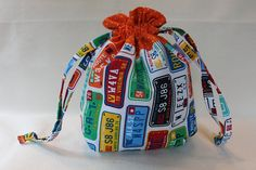 Road Trip Project Bag by TanisKnits on Etsy