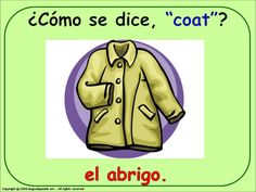 HOW DO YOU SAY... - CLOTHES (1) IN SPANISH
