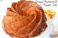 Orange Buttermilk Bundt Cake - a wonderfully moist cake beneath a crunchy, delicate crust. If you love the taste of oranges, you'll love this cake!