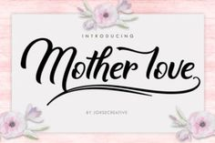 Mother Love is a modern calligraphy typeface, which combines the classic style of calligraphy with a more modern one. Mother Love features over 245 glyphs and has includes many alternate characters. Handwritten Fonts, All Fonts, Script Fonts, Fancy Fonts, Branding, Creative Sketches, Creative Fonts, Free Fonts Download, Love Is Free