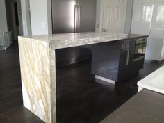 waterfall marble countertop - Google Search