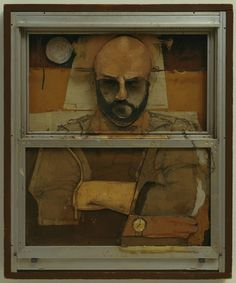 Jim Dine Storm Window  Larry Rivers (American, 1923-2002)  1965. Oil, pencil, and collage on aluminum and glass window and screen mounted on plywood with wood frame