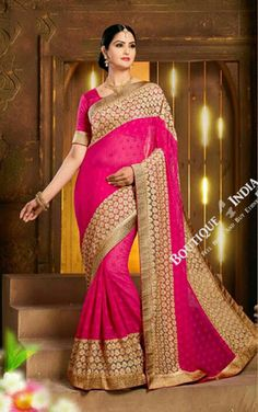 Product Name Sarees - Hot Pink Net Unique Design Party Wear Collections - Dazzling Unique Net Designer Collections / Festivals / Party / Special Occasions / Wedding / Casual Product Code SAR-ONES8-3011-16 SKU 30011 Material Net, Chiffon Color Hot Pink Work Net, Embroidery, Lace Jari Style Party Designer Occasion Wedding, Party, Festival and Special Occasion Items included Attached Blouse - ready to stitch Product Weight 2 lb Shipping Option Available Ready to Ship Yes Shipping Mode FedEx…
