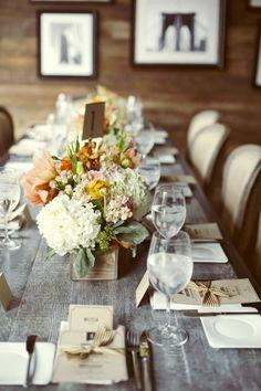 lovely long table setting..