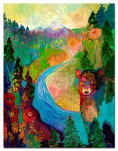 i am the mountain stream - Fine Art Print by Jenlo, 16x21 or 24x31