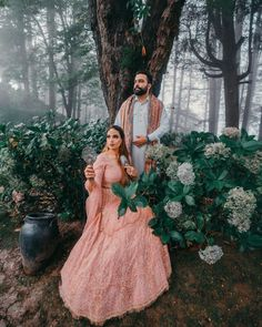 Spotted this gorgeous pre-wedding shoot idea for Indian couples with the bride in a pretty peach colour lehenga and the groom coordinating with her in a white kurta and peach shawl. Pc: Sunny Dhiman Photography #indianwedding #wedding #bride #indianbride #jewellery #wittyvows #bridal #hairstyle #bridalhairstyle #indianjewellery #hair #prewedding #preweddingshoot
