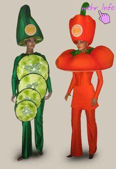 Inidividuelles Promotionkostüm Tomaten-Kostüm Birnen-Kostüm