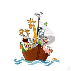 sticker decorativo passeio no barco