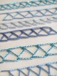 Instructions on web site.  Simple elegance.  Sarah Whittle - Contemporary Embroidery Artist