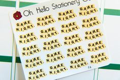 20 Game Night Stickers - F4 - Oh, Hello Stationery Co.   - 1