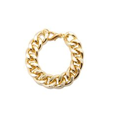Gold Chain Link Bracelet. Go for this, or wait to afford the YSL dream version?