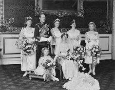 The wedding party of Prince Arthur of Connaught and Alexandra, Duchess of Fife. October 15, 1913.